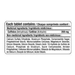 Allmax Caffeine 200mg 100 Tablets Ingredient Panel