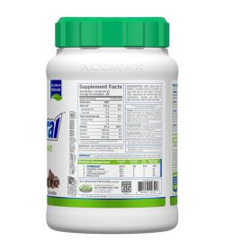 One white and green container of Allmax IsoNatural facts panel