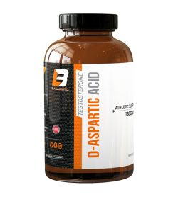 One white, black and orange bottle of BallisticLabs Testosterone D-Aspartic Acid 130g
