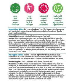Usage and dose panel of Progressive VegeGreens 265g