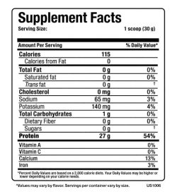 Supplement facts panel of Allmax Isoflex for a serving size of 1 scoop (30 g) shown in black text in white background