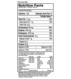 Nutrition facts and ingredients panel of Musclepharm Combat for serving size of 1 scoop (34.9 g)