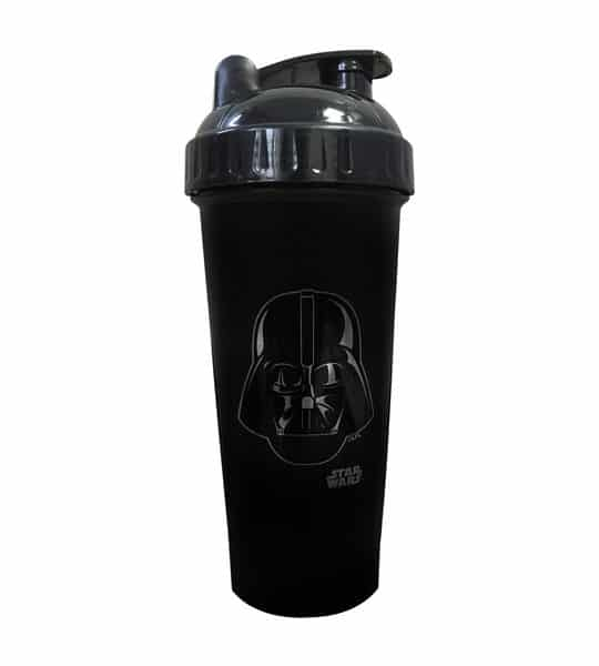 Black bottle with black lid of Perfect Shaker Star wars darth vader shown in white background