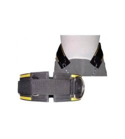 WSF Dipping Lifting Belt frontside shown with demonstration picture in white background