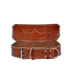 WSF Genesis Leather Universal Dipping Belt one frontside another backside shown in white background