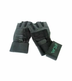 WSF Wrist Wrap Strap Gloves backside shown in white background