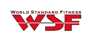 world standard fitness logo wsf letters in bold red writing with line through it