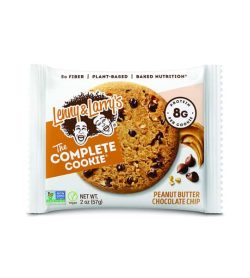 A single pouch of Lenny&Larry's The Complete Cookie Peanut Butter Chocolate Chip flavour contains 8g protein