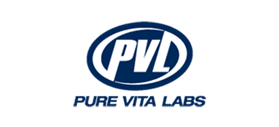 pvl pure vita labs logo blue circle with white pvl font