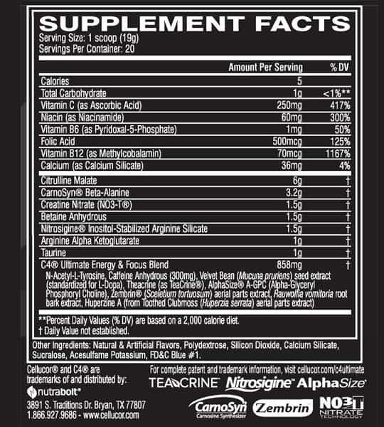 cellucor-c4-ultimate-pre-workout-ingredient-panel