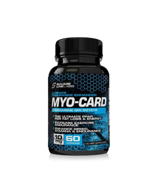 Black Bottle of Savage Line Labs myocard sarms CardGW501516 contains 60 capsules