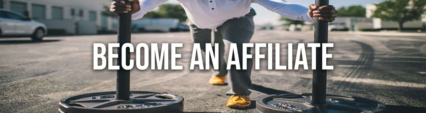 Become an affiliate with person training in the background