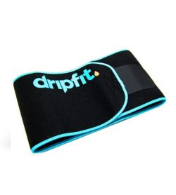 Black and blue Dripfit Sweat Band shown closed in white background