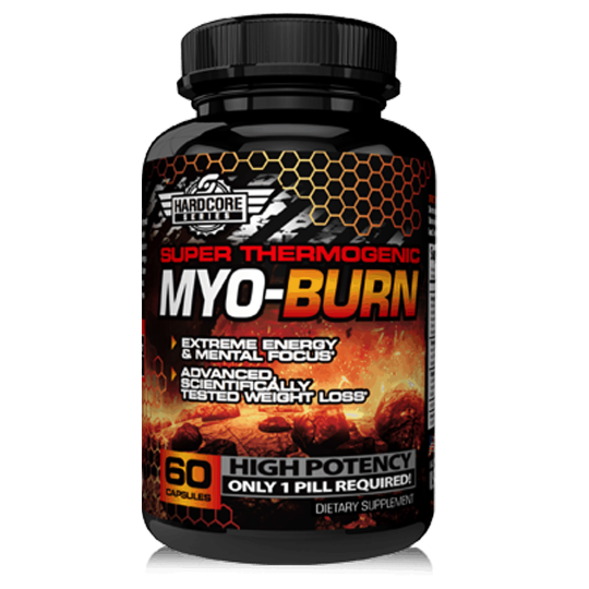 Super Thermogenic Myo-Burn High Potency dietary supplement contains 60 capsules Hardcore series