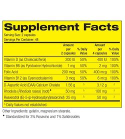Supplement facts and ingredients panel of Pharmafreak Anabolic Freak Ingredients for serving size of 2 capsules