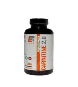 Black bottle with white label of Fat Metabolizer Carnitine 2.0 shown in white background
