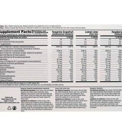 Supplement facts and ingredients panel of Ener C Multivitamin Mix pack for serving size of 1 packet