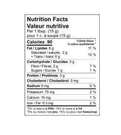 Nutrition facts panel of Fatso Hybrid Peanut Butter for serving size of 1 tbsp (15 g)