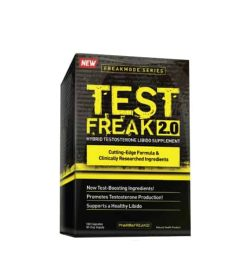 Black and yellow box of PharmaFreak Test Freak 2.0 Hybrid testosterone libido supplement new freakmode series