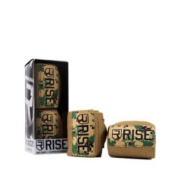 2 in a box and 2 outside shown in white background of Rise Wrist Wraps Camo