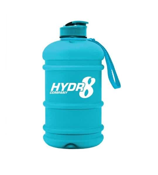 Hydr8 Company 2 lit Water Bottle blue container with blue lid and strap