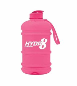 Hydr8 Company 2 lit Water Bottle pink container with pink lid and strap