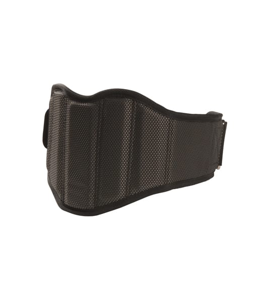 Lifttech Compression Belt Grey Shown closed backside in white background