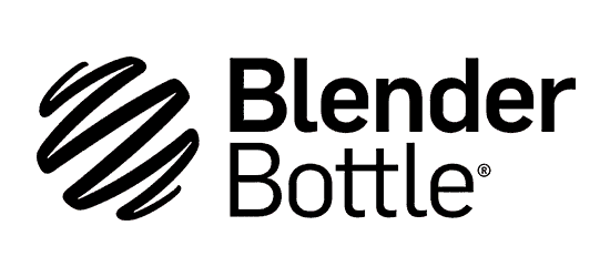 Blender Bottle logo with circle squiggle icon