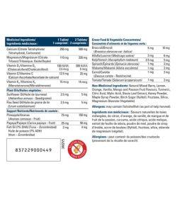 Medicinal ingredients panel of Progressive Kids Complete Calcium 120 chew-tablets