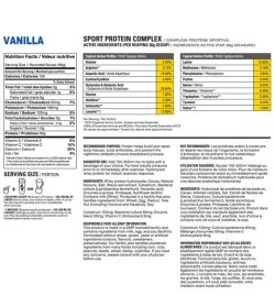 Nutrition facts and ingredients panel of Athletic Alliance Hydro Pro for serving size 1 mounded scoop (36 g)