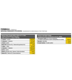 Medicinal ingredients panel of Athletic Alliance Regen-X BCAA for one serving size
