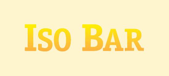 Iso Bar logo yellow orange