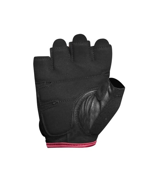 Black and pink Lifetech Elite women's Wrist Wrap inside view shown in white background