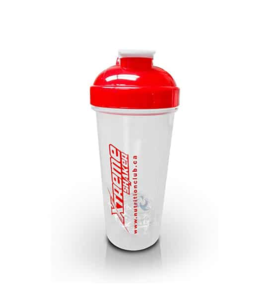 White Extreme Shaker with red lid shown in white background