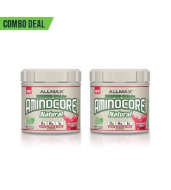 Combo deal 2 white containers with white caps of Allmax Aminocore Natural with Apple flavour