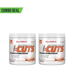 Combo deal 2 white containers with white caps of Allmax Amino Cuts with Sweet Tea flavour