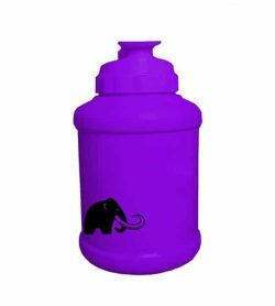 Matte Purple Mammoth Mug showing mammoth picture in black and product in white background
