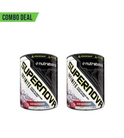 Combo deal 2 black and white container of Nutrabolics Supernova Infinite with Iced Raspberry falvour
