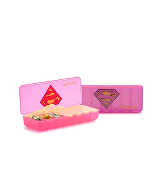Two Pink containers of Performa Super women pill container with one container open