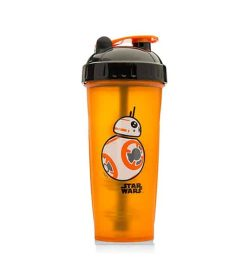 Performa Orange shaker with Black lid Star Wars variant showing BB8 picture in white and orange
