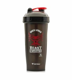 Performa black shaker with black lid WWE variant showing Beast Incarnate picture in white and red