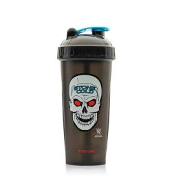 Performa black shaker with black lid WWE variant showing Stone Cold skull picture in white