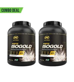 Combo Deal 2 black containers with black cap of PVL ISOGOLD 100% Whey supplement