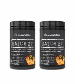 Combo deal 2 black container with black lid TC Nutrition Batch 27 Clinically Dosed Preworkout dietary supplement