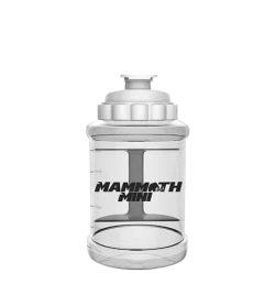Clear white Mammoth Mini mug 1.5 liter bottle black mamoth mug written across