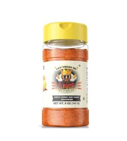One bottle with yellow cap of Flavor God Seasonings Fiesta Sweet And Tangy contains 5 oz (141 g)