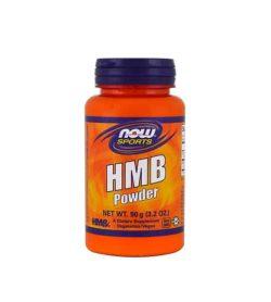 Orange bottle with purple cap of NOW Sports HMB Powder 90 g