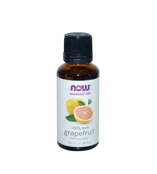 Brown and white bottle of Now essential oils 100% pure Grapefruit Oil 30 ml