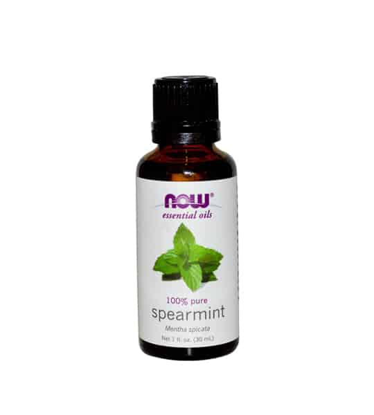 Brown and white bottle of Now essential oils 100% pure Spearmint Oil 30 ml