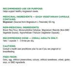 Organika-Magnesium-L-Threonate-90-caps-facts